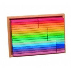 Set de construcción arcoiris de madera